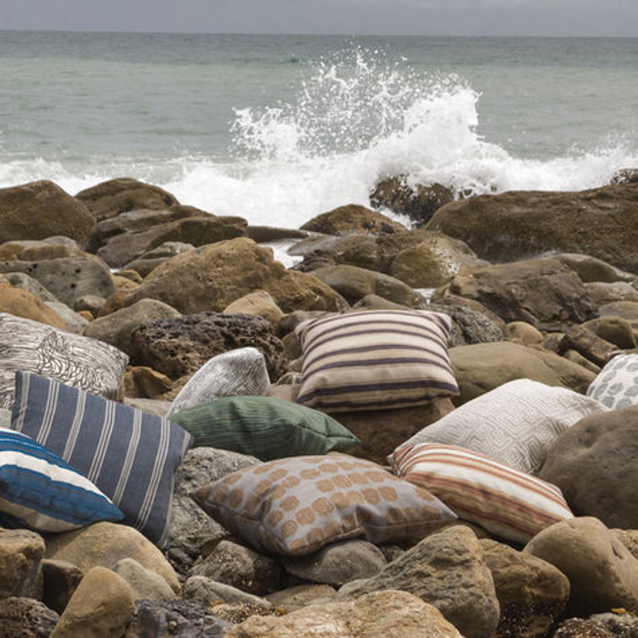 Pillows in Kelly Wearstler Outdoor Fabric Collection