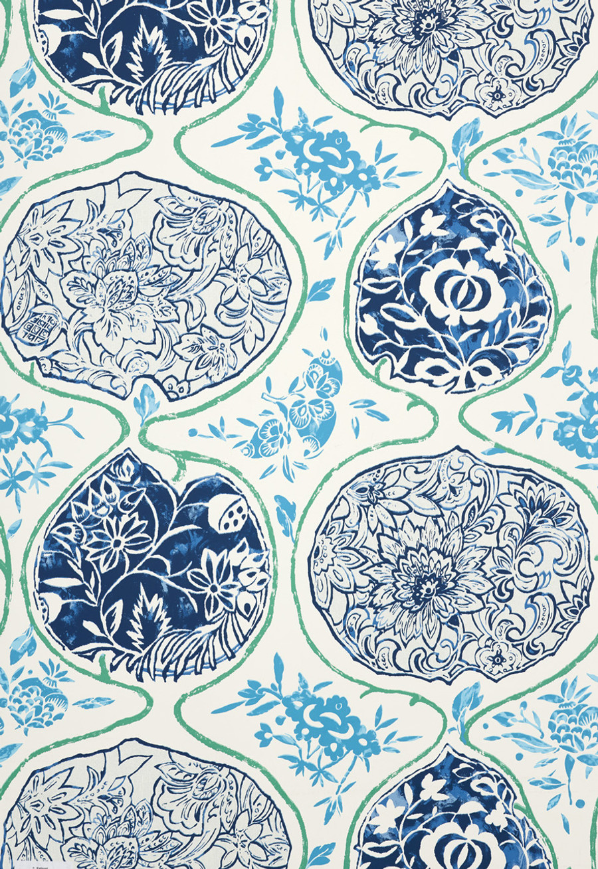 Schumacher Katsugi Turquoise and Cobalt