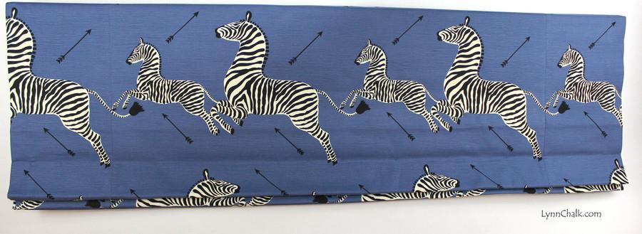 Scalamandre Zebras  -Denim Indoor/Outdoor fabric 36378