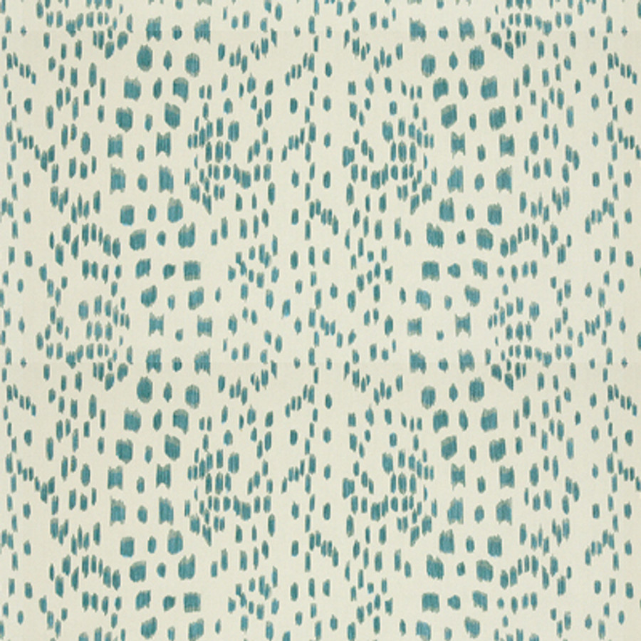 Les Touches in Aqua (comes in fabric and wallpaper)