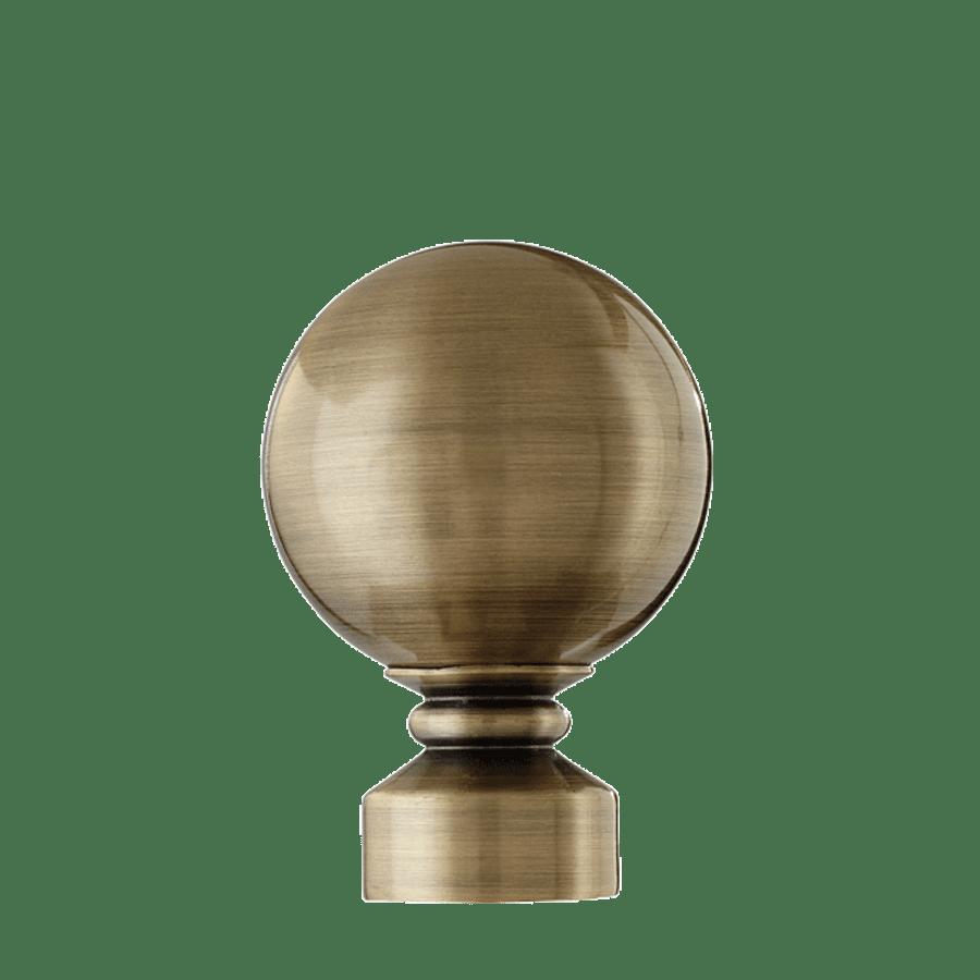 Ball Finial in Antique Brass