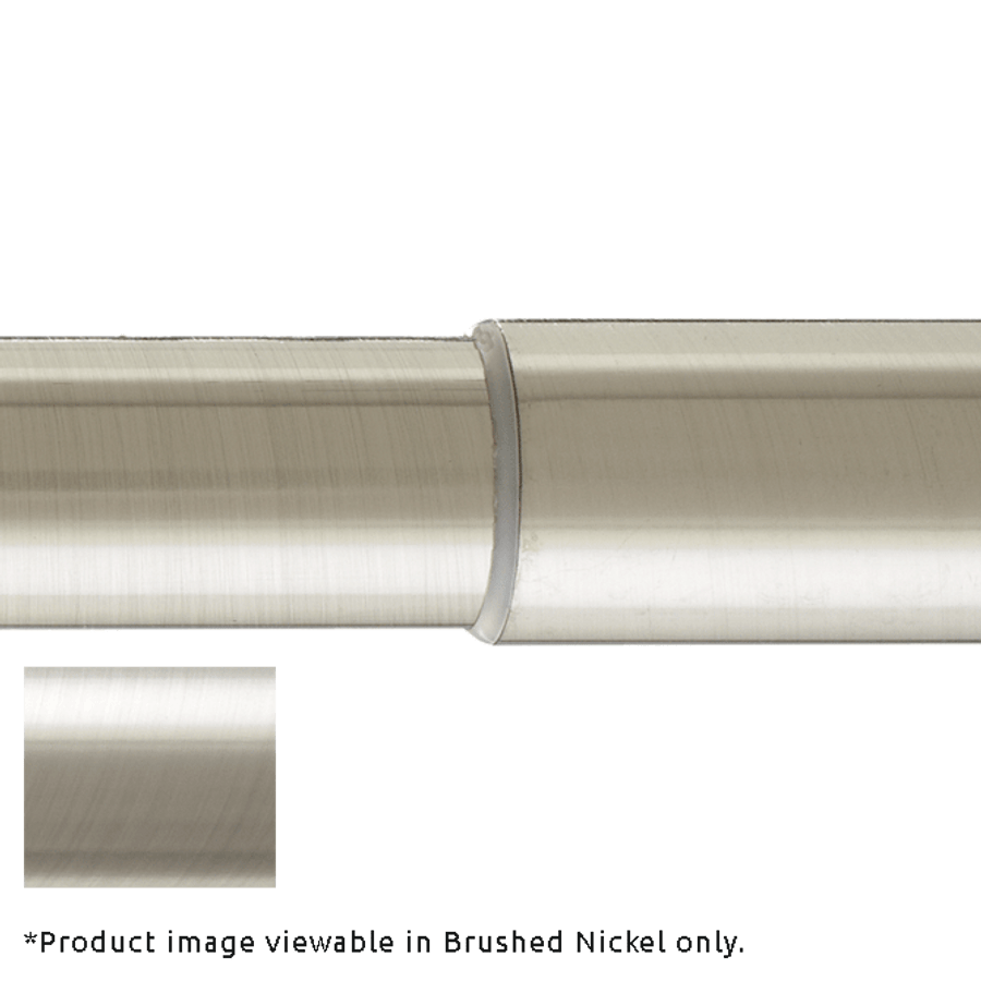Telescoping Rod (shown in Brushed Nickel). You will receive telescoping rod to match finish you are ordering.