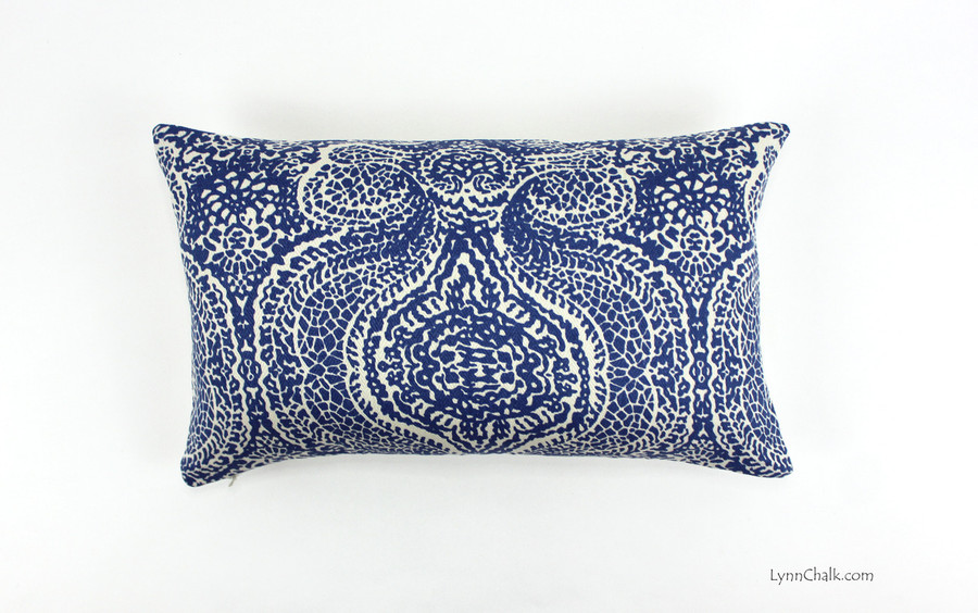 ON SALE Peter Fasano Pillow in Isadora in Baltic Blue