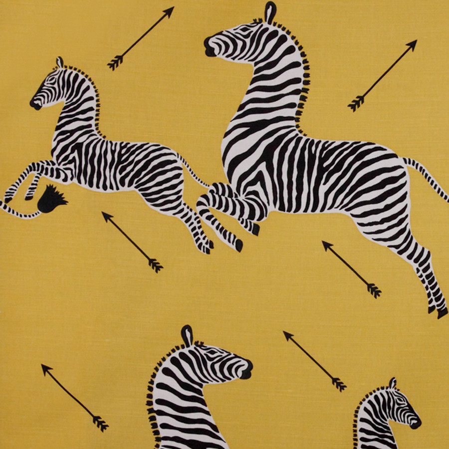 Scalamandre Zebras in Yellow Indoor/Outdoor Fabric Only