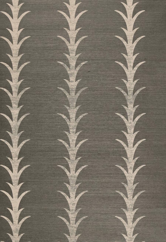 Celerie Kemble Acanthus Stripe Haze Wallpaper