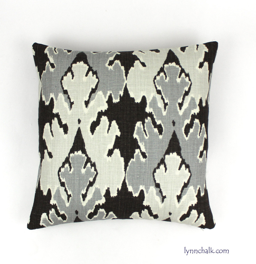 Custom Pillow by Lynn Chalk in Kelly Wearstler Bengal Bazaar Graphite