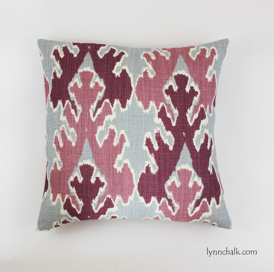 Pillow in Kelly Wearstler Bengal Bazaar Magenta