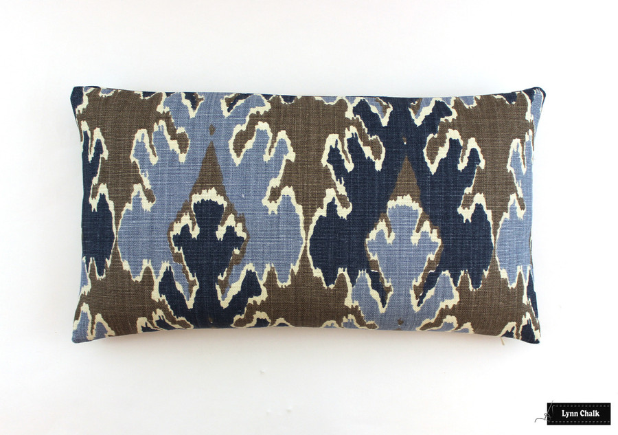 Kelly Wearstler Bengal Bazaar Grey Indigo Pillow (14 X 24)