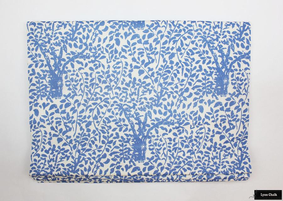 Quadrille Arbre De Matisse -China Blue Roman Shade (By Lynn Chalk)