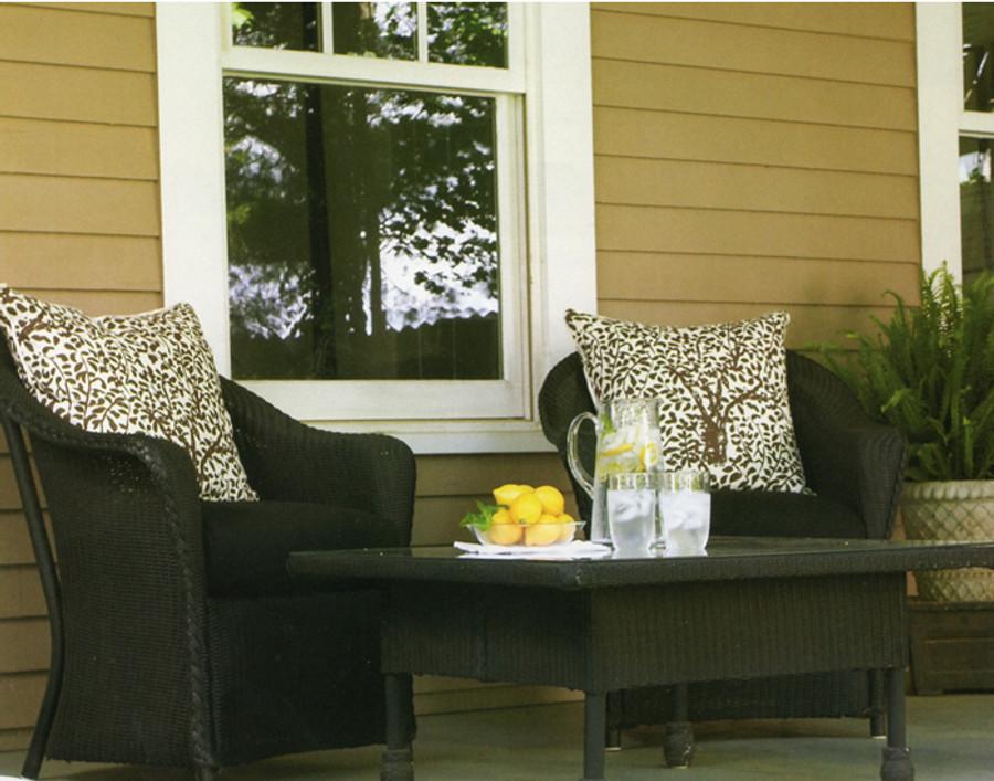 Pillows in Quadrille Arbre De Matisse Reverse-Brown