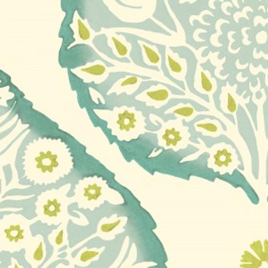Lotus Wallpaper Turquoise