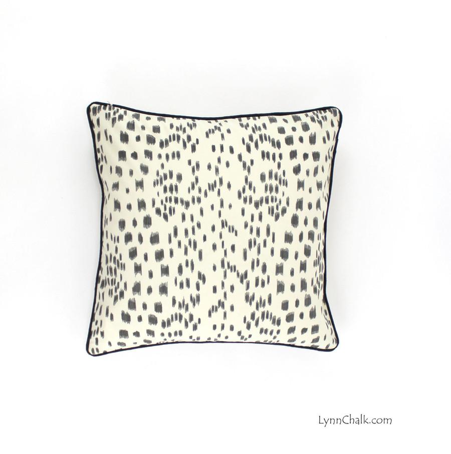 Brunschwig & Fils/Lee Jofa Les Touches Pillow in Bordeaux with Welting in Robert Allen Lustre Sheen Dahlia