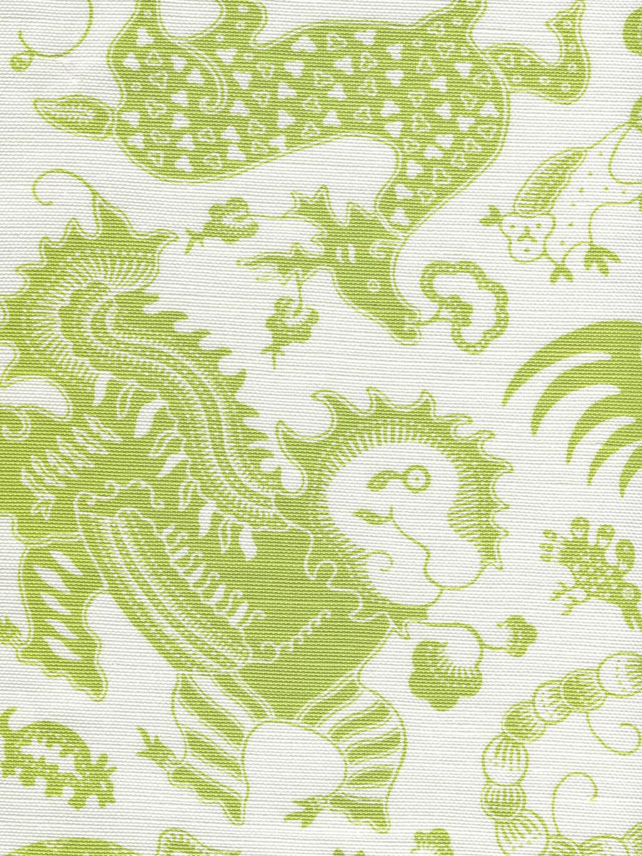 Indramayu Jungle Green on White 9005-06