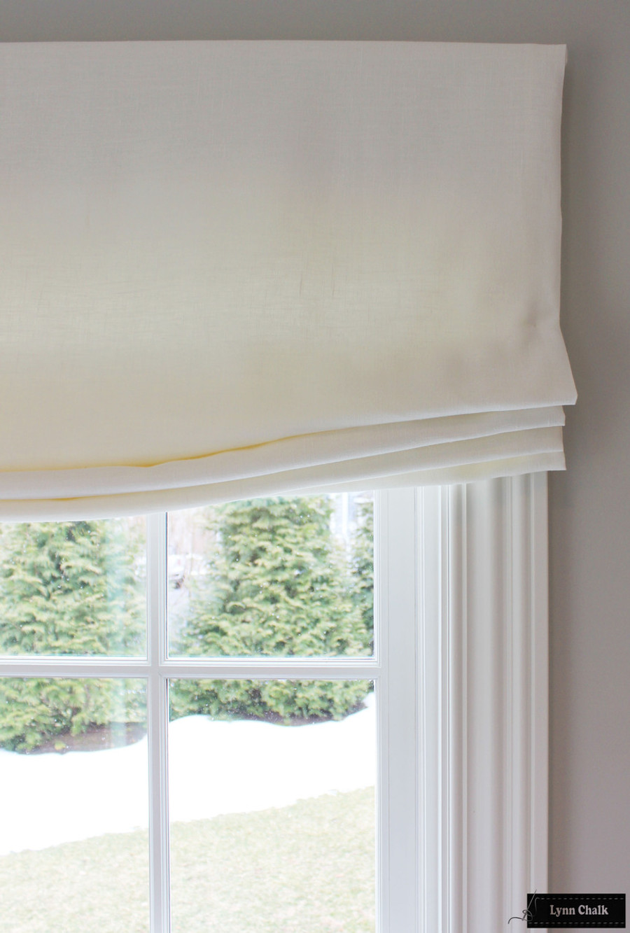 ... Relaxed Roman Shades And Drapes In Living Room (shown In Off White  Linen  ... Part 63