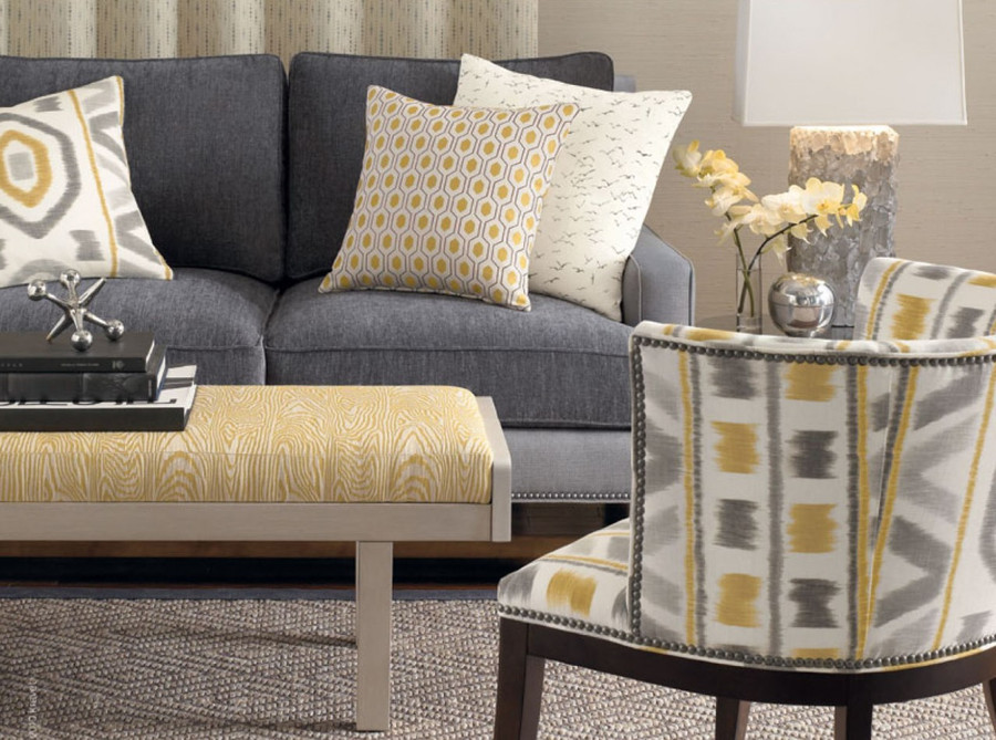Pillow and Chair in Thom Filicia Prospect-814 Shadow