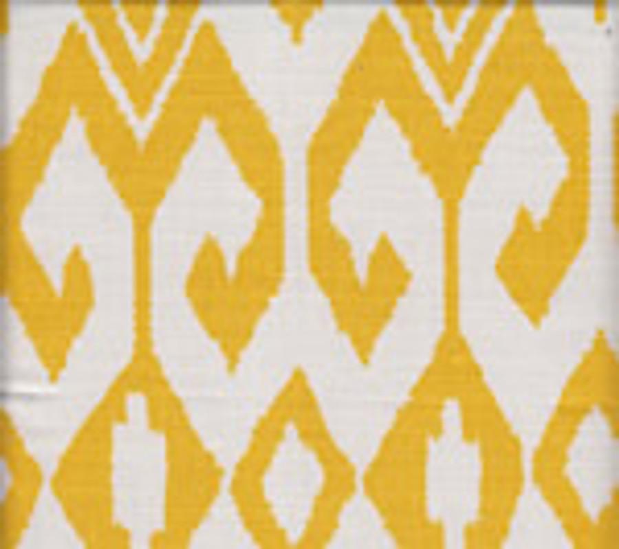 Quadrille Alan Campbell Aqua II Yellow on White 7230-02