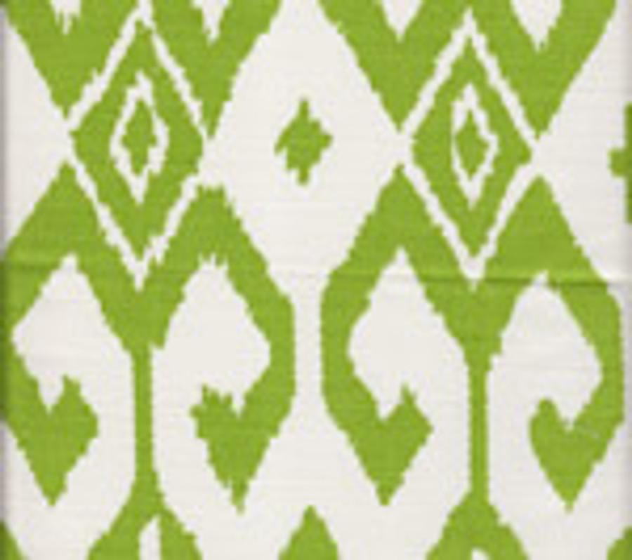 Quadrille Alan Campbell Aqua II 7230-03 Jungle Green on White