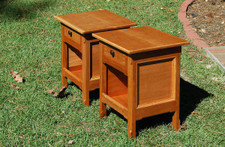 Cherry Veneer Night Stands