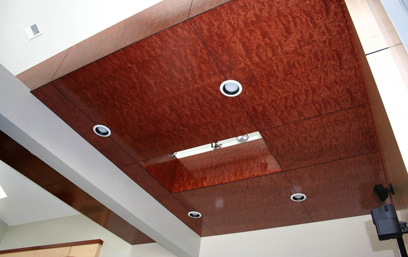 Pommele bubinga veneer ceiling oakwood veneer for Oakwood veneers