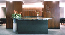 Walnut Veneer Reception Area