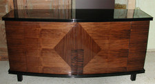 Magnificent Walnut and Macassar Ebony Veneer Buffet