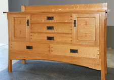 Quarter Sawn Tiger White Oak Veneer Sideboard