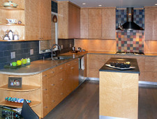 Birdseye Maple Veneer Kitchen
