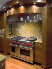 Quartered Cherry Veneer Kitchen