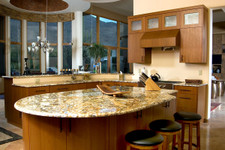 Spanish Cedar Veneer Kitchen