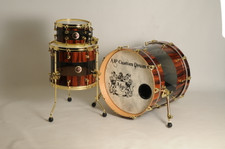 Goncalo Alves Veneer Drum Set
