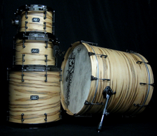 Wormy Maple Veneer Drums