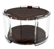 Macassar Ebony Veneer Side Table