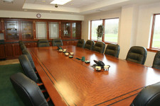 Pommele-Sapele Veneer Conference Table