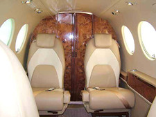 Camphorwood Burl Veneer Executive Jet