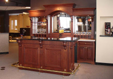Cherry Veneer Wet Bar