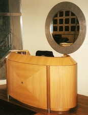 Figured Anigre Reception Desk