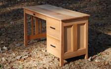 Quarter Sawn Red Oak Veneer Student Desk
