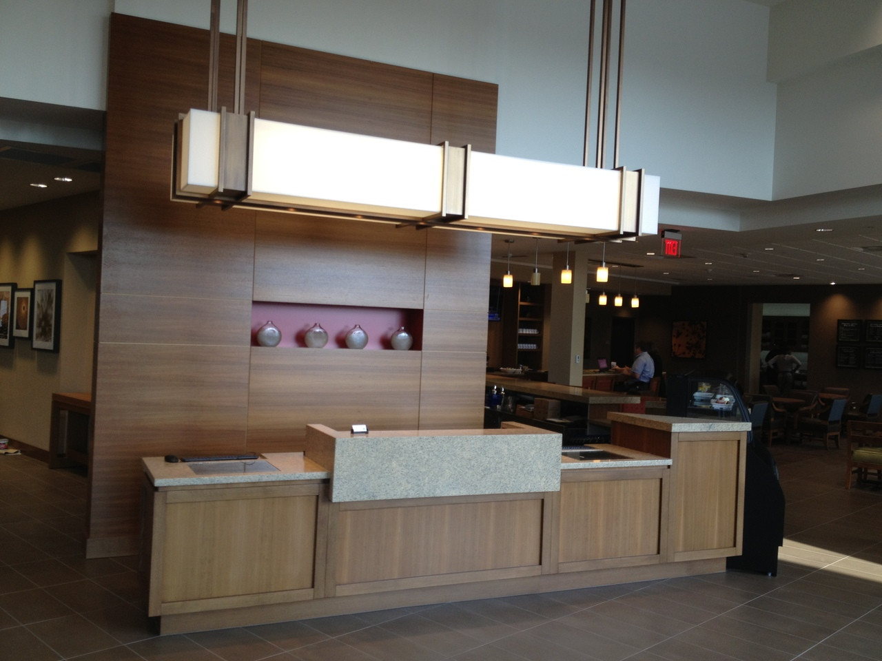 Teak Veneer Reception Desk Oakwood Veneer