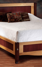 Quartered Sapele Veneer Bed