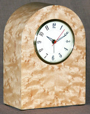 Birdseye Maple Veneer Clock
