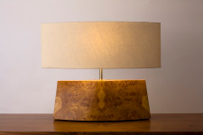 "Oak Burl Veneer ""Moth Lamp"""