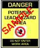 English Version of Danger, Potential Lead Hazard Area,  Do Not Enter Work Area - RRP Sign In 10 Languages - Downloadable Product. Never Order Signs Again - Order, Download, Save, and Print as Needed.