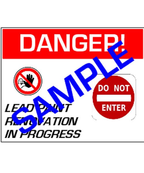 English Version of: Danger, Lead Paint Renovation, Do Not Enter - RRP Sign In 10 Languages - Downloadable Product. Never Order Signs Again - Order, Download, Save, and Print as Needed.