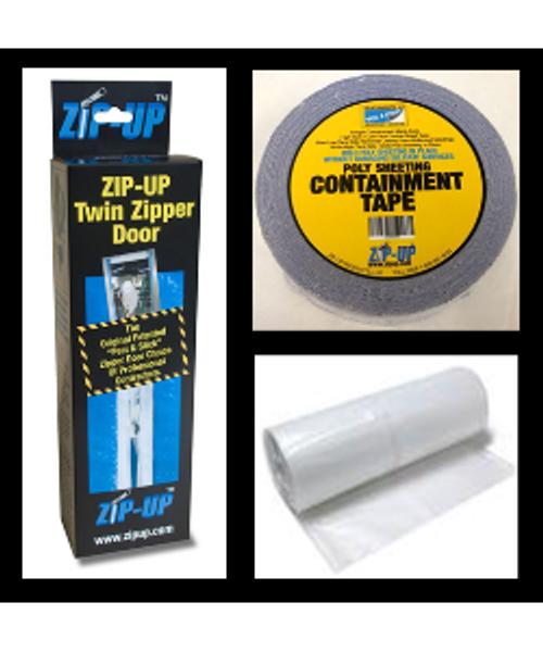12 Door zipper door package includes 4 mil 4u0027 x 100u0027 plastic  sc 1 st  LeadPaintEPAsupplies.com & Zipper Door Kit 12 Sgl Size Doors Sgl Zipper Plastic Tape Inc pezcame.com