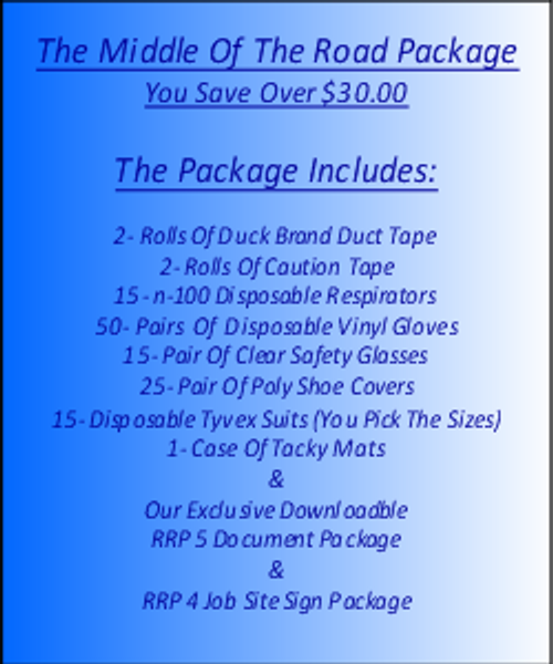 The Middle Of The Road Package For Lead Based Paint Clean Up at http://www.LeadPaintEPAsupplies.com