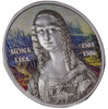 MONA LISA Gioconda Ultra  High Relief  1 Oz Silver Coin 5$ Palau 2017