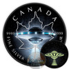 UFO MAPLE LEAF - Glow in the Dark $5 Silver Coin 1 oz Canada 2017