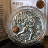 MINOTAUR - ANCIENT MYTHS - 2 oz High Relief Silver Coin w/Brass Inlay 2017 Niue