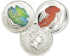JELLY FISH C. Achlyos & Cotylorhiza Silver Proof 2-Coin 2011 Pitcairn Islands