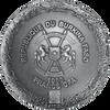 MOON - LUNAR METEORITE NWA 10546 - NANO CHIP - 2016 1 oz Convex Silver Coin with Real Meteorite - Antique Finish - Burkina Faso